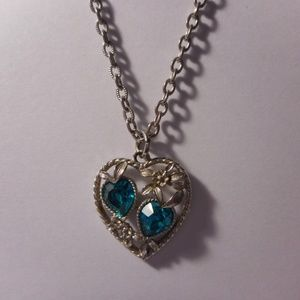 Sarah Coventry Love Story Heart Pendant Necklace